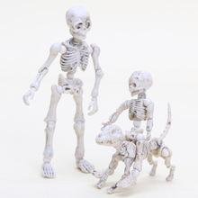 3pcs/set Pose Skeleton Man Child and Dog Jointed Posable Skeleton Body Chan Kun Youth Cartoon Toy Action Figure Model Doll(China)