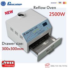 Hot air + Infrared 2500w Mini Reflow Oven BRTRO-420 300*300mm BGA SMD SMT Rework Sation, Hot sale!