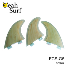 Quilhas FCS G5 Clear Bamboo Fins Free Shipping Future Fin M Size Surfboard Fins