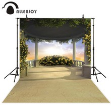 Allenjoy photography backdrops Garden wedding background beautiful sky flowers Background for a photo photo backdrop vinyl