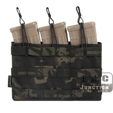 Emerson Tactical 5.56 .223 Triple Open Top Magazine Pouch Emersongear Mag Carrier MOLLE PALS Webbing W/Pull Tabs Quick Access