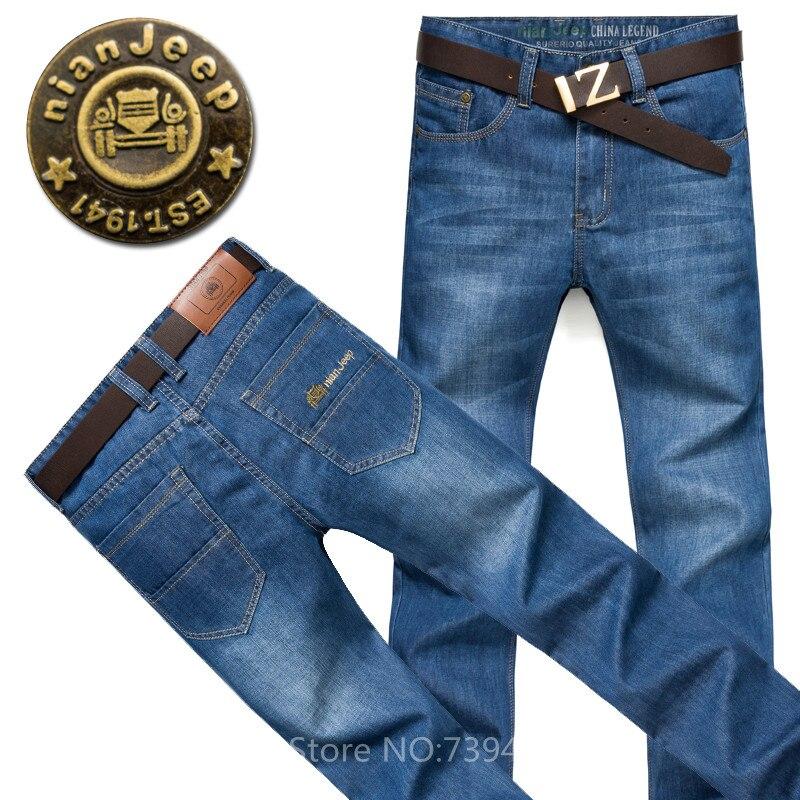 2017 Brand Mens Jeans Summer Slim Straight  Pants Denim Trousers Size 38 40 Jeans for Menr Men Business JeansОдежда и ак�е��уары<br><br><br>Aliexpress