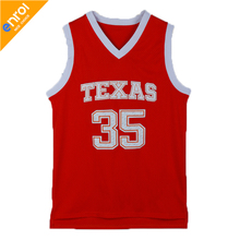 Kevin Durant University Texas Basketball Jersey 35# High Quality Breathable Fabrics 2 Colors Sleeveless Jerseys Throwback(China)