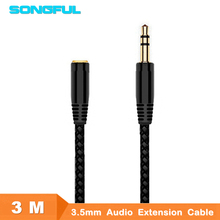 3M 10ft Jack 3.5mm Earphone Extension Cable Female Male F/M Headphone Stereo Audio Cable AUX Cord Speaker Phone PC MP3/4