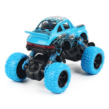 Mini Alloy Metal Diecast Car Baby Toys Kids 1: 32 Scale Pull Back Beetle Beat-up Car Model Vehicle Toy for Children Boy Gift(China)