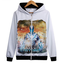 Max Steel Iron Knights hoodie Sweatshirt Fashion Brand New Casual Coat White Jacket hoody Gift Outerwear Clothing with Hooded