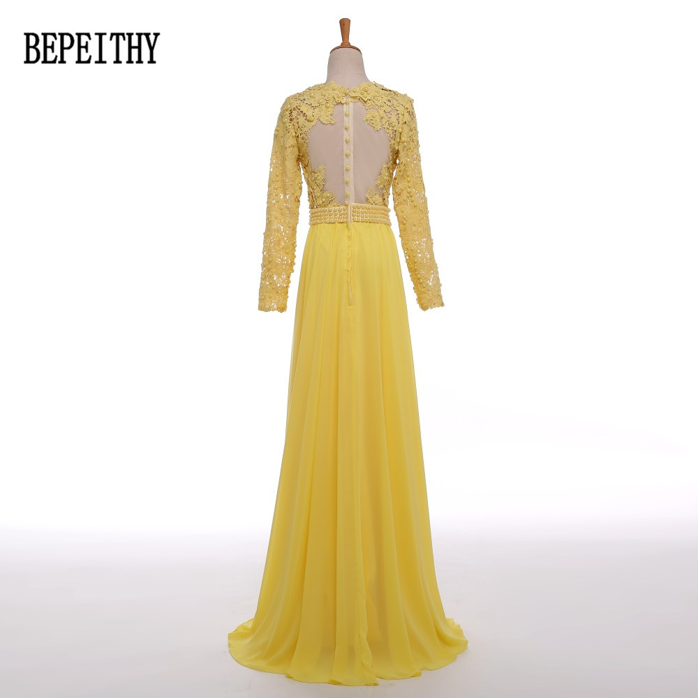 chiffon yellow long sleeve (1)