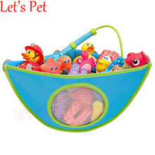 Let's PetBabyToy Mesh Hanging Storage Bag Bath Bathtub Waterproof Toy Organizer Suction Bathroom Stuff Baby Care Home Decoration