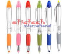 by dhl or ems 500pcs 3 in 1 Colorful Capacitive Touch Screen Stylus + Ballpoint Pen + LED Flashlight For IPad For Office(China)