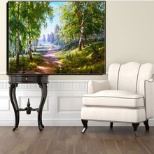 Diamond Painting Embroidery Cross Stitch Country Road View Diamond Mosaic Picture Wolf River Scenic Diamond Painting Kits(China)