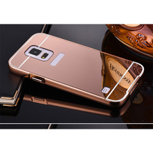 Mirror Case For Samsung Galaxy S3 S4 S5 mini S6 S7 edge S8 G530 A3 A5 A7 J3 J5 J7 2016 Prime Metal Frame Aluminum +PC Back Cover