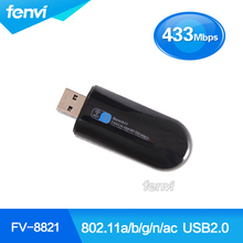 Fenvi Dual Band Wireless-AC USB 600Mbps WiFi Bluetooth BT 4.0 Lan dongle Network 2.4/5GHz 600M USB2.0 Wlan 802.11ac WIFI Adapter(China)