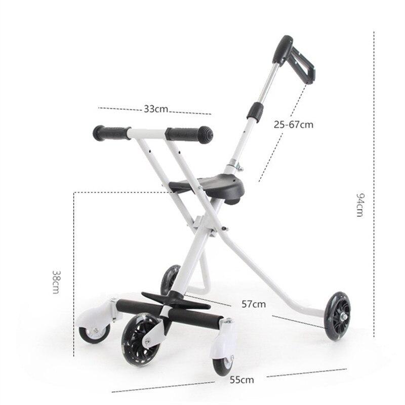 Children\'s Five-Wheeled Baby Anti Rollover Portable Folding Car Mother & Kids Activity & Gear Baby Stroller Lightweight Stroller07