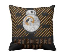 Astro Droid Star Wars Cool Robot 33cmx33cm inch Throw Pillow Case Pillowcase Cover (twin sides)