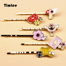 Timlee H147 Mocha Sakura New Xiaoke Star Bird Flower Brand Hair Clip Girls Lovely Hair Accessary Gift