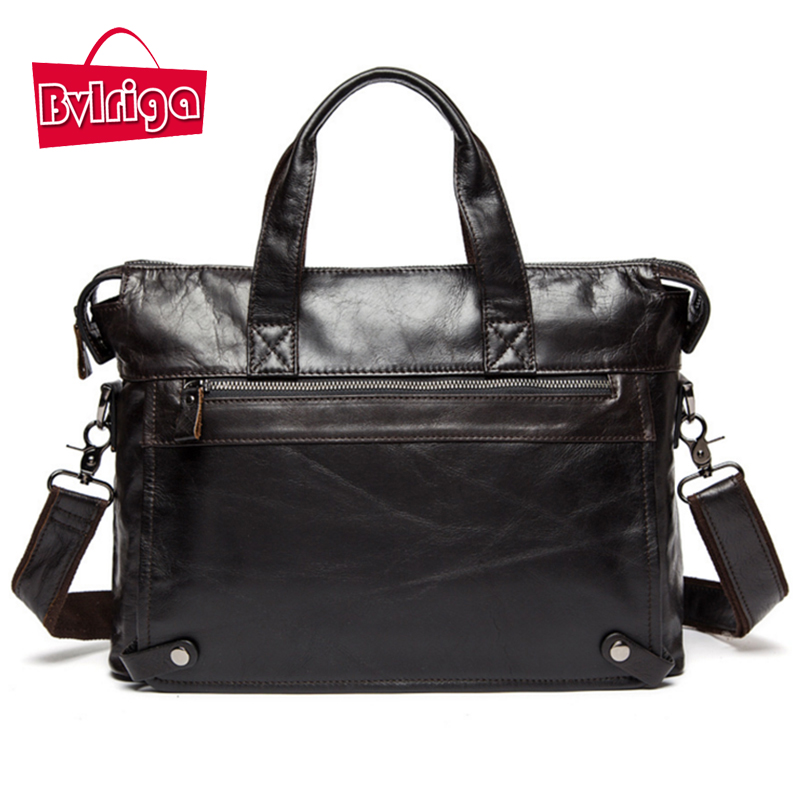 BVLRIGA Genuine leather bag designer handbags high quality shoulder bags vintage men messenger bags Business Laptop Briefcase