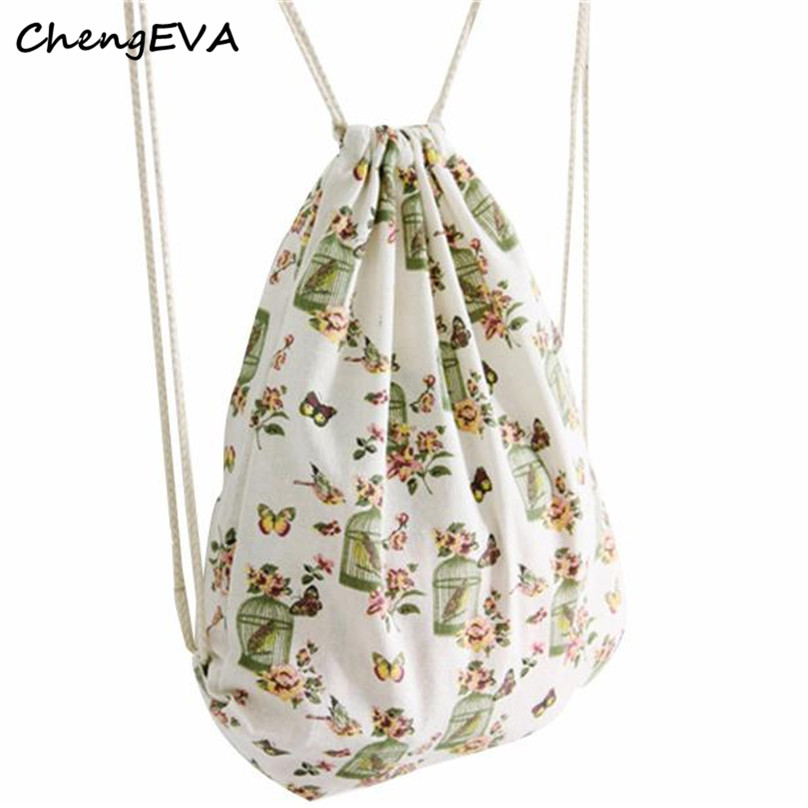 New Casual Hot Sale Attractive Elegant Women Birdcage Drawstring Beam Port Backpack Shopping Bag Travel Bag Free Shipping Jan 10<br><br>Aliexpress