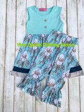 Summer Girls Boutique Outfits Unique Design Tops With Pants Sets kids trendy clothing