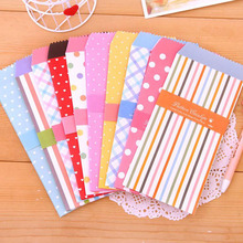 M59 10X Cute Dots Striped Fresh Paper Envelope Creative DIY Tool Greeting Card Cover Scrapbooking Gift(China)