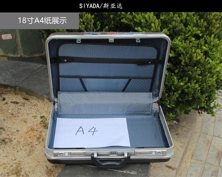 ABS Aluminium tool case toolbox Aluminum frame Business advisory suitcase Man portable suitcase briefcase good quality<br>