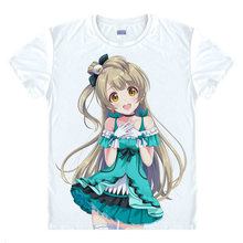 lovelive T-Shirt Eli Ayase Shirt t shirts Anime Clothing cute lovely kawaii Shirts & T-Shirt Japanese Anime lovely and A(China)