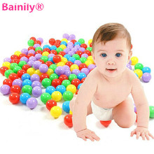 [Bainily]50pcs/set 8cm High Quality Colorful Pool Bobo Soft Plastic Ocean Balls Soft Plastic Ocean Ball Baby Kid Swim Pit Toys(China)