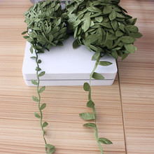 new green leaves of decorative cloth simulation leaf garland DIY manual material accessories wholesale 5M