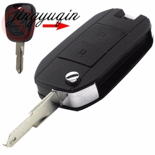 jingyuqin New Style Modified Flip Folding Car Key Fob Shell For Citroen C2 Peugeot 206 207 Remote 2 Button Key Case