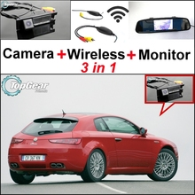 3 in1 Special WiFi Rear View Camera + Wireless Receiver + Mirror Monitor EASY DIY Parking System For Alfa Romeo Brera Spider