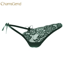 Buy Chamsgend Newly Design 2016 Womens Sexy Lace V-string Briefs Panties Thongs G-string Lingerie Underwear 160108 Drop Shipping