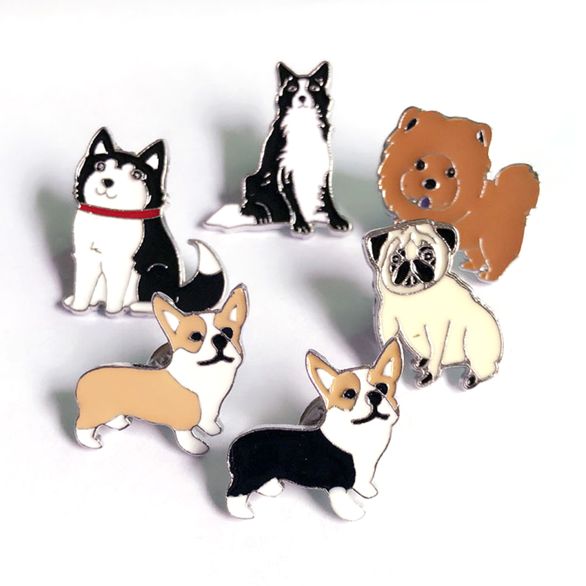 Dachshunds corgi dogs brooches pins pendant badge decorated pins jewelry cartoon cute brooches for men and women Fashion gifts(China (Mainland))