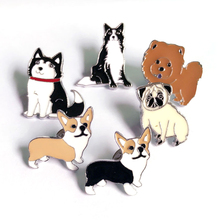 Dachshunds corgi dogs brooches pins pendant badge decorated pins jewelry cartoon cute brooches for men and women Fashion gifts(China)