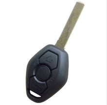 Remote Key Case 3 BTN 2 Track for BM-W Z3 Z4 X3 X5 E36 325i 3 5 7 525i 330i Uncut Shell HU92 (Words 433.92MHZ On The Backside)