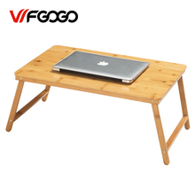 WFGOGO Computer Desks Portable Laptop Desk Easy Comforts Tray The Ultimate Portable Folding Table Study tables bamboo(China)