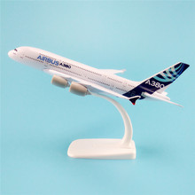 20cm Metal Alloy Air Prototype Airbus 380 A380 Airlines Plane Model ProtoMech Development Aircraft Airplane Model w Stand(China)