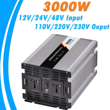 3000W Modified Sine Wave Off Grid Tie Inverter Optional 12V/24V/48V DC Input and 110V/220V AC Output Microprocessor Based Design(China)