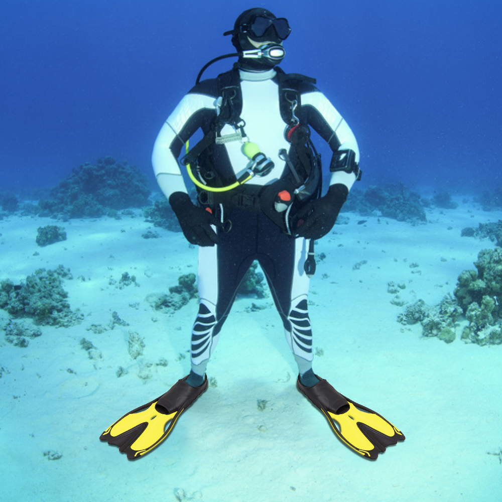 Details about  /Flippers Fins Diving Short Fins Adult Children Lightweight Foot Training Sn G7A6