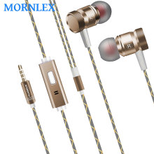 3.5mm metal earphone in ear earbuds HiFi Stereo Music earpieces with microphone for ps4 Mp3 player auriculares deportivos for mi