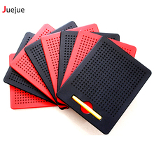 Magnetic Tablet Magnet Pad Drawing Board Bead Magnet Stylus Pen to 380 Pop Bead Learning Educational Writing Memo Board Kid Toy(China)