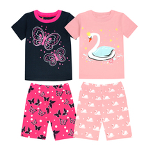 TINOLULING Children Clothing Sets Butterfly Swan Style For Baby Girls Sport Suits Kids 2pcs Clothes Set Boys Pajamas Pijamas(China)