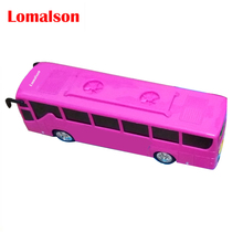 Free shipping electric children toys universal electric music bus electric model toys light musi the best gift to children(China)
