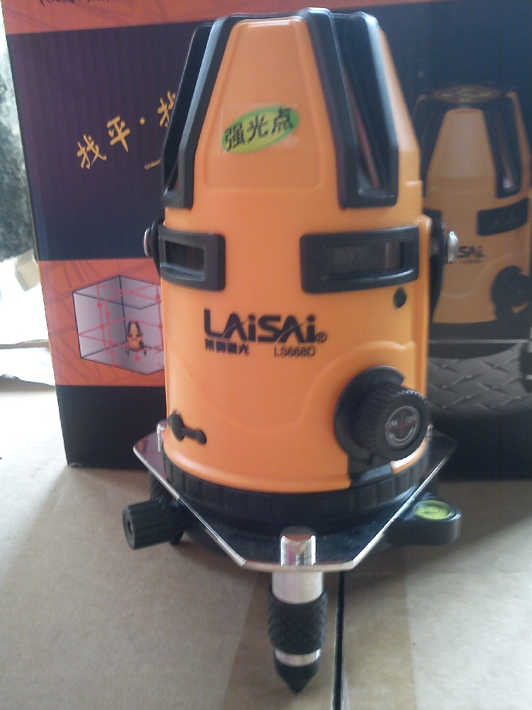 China laisai ls668d 8 lines 9 points vertical laser level dhl shipping(China (Mainland))