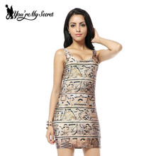 You're My Secret] 2017 HOT Sundress Fashion Women Hieroglyphs Print Galaxy Dress NEW  MADE TO ORDER Sleeveless Dresses Wholesale