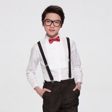 New Boys White Shirt Bow -tie Boys Dress Shirts High Quality Chemise Garcon De Marque   Boys Shirts 6BBL120