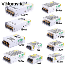 Viktorovna led Driver 1A-60A Switching Switch LED strip Power Supply Adapter AC110V 220V to DC5V 12V 24V 48V for LED Strip light(China)