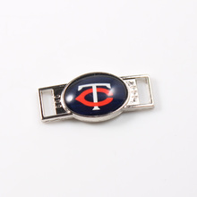 Minnesota Twins MLB Baseball Team Logo Oval Shoelace Charms For Sport Shoes And Paracord Bracelets Jewelry Decoration 6pcs