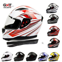 men Motorcycle helmet GXT 398 white red with warm neckerchief,women Motorbike Full face helmet,electric bicycle helmets