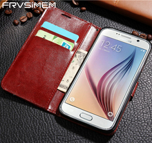FRVSIMEM Flip Wallet Leather Case for Samsung Galaxy A3 A5 A7 2016 J3 J5 J7 2017 S3 S4 S5 S6 S7 edge S8 Plus J2 Prime G530 Cover