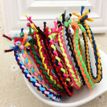 10 Pcs/Pack New Colorful Weave Braided Elastic Rubber Hair Ties Band Rope Ponytail Holder  Hair Accessories