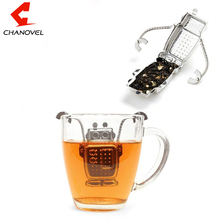 2017 Hot Manufacturer Direct Tea Infusers Stainless Steel Cute Tea Robot Infuser Recyclable Tea Strainers Monkey Tea Tool(China)